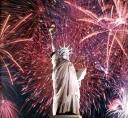 statue of liberty Fourth of July Fireworks