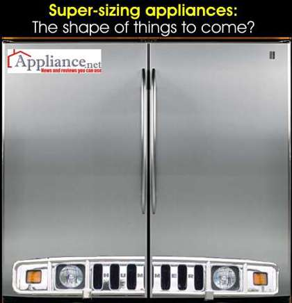 Super size refrigerator — by Hummer?