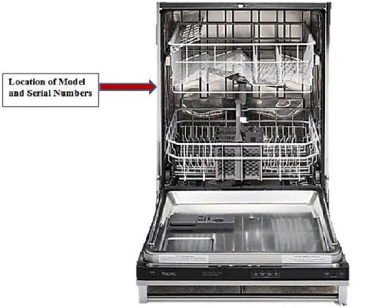 Kitchenaid Dishwasher Model Numbers viking dishwasher recall serial numbers 4-12